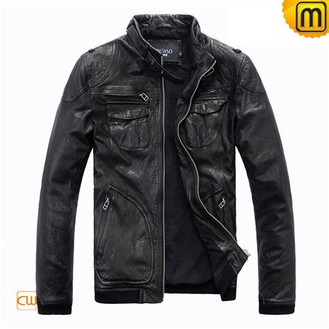 mens black leather motorcycle jacket s black motorcycle leather jacket cw813074