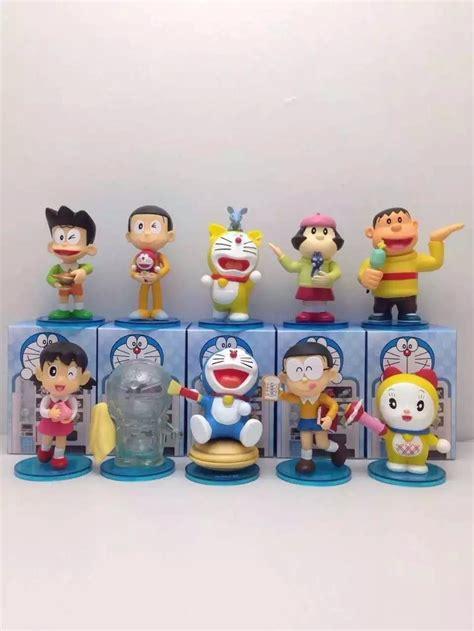 Bandai Shf Nobita Doraemon Set doraemon figure anime nobita shizuka minamoto suneo