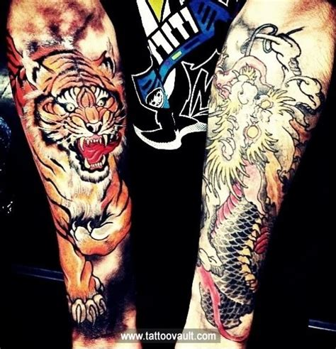 forearm dragon tattoo designs tiger and on forearm s