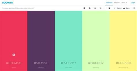 2016 best color palettes 5 best color palette generator for web designer and developer