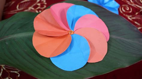 Paper Flower At Home - how to make a simple paper flower diy crafts at
