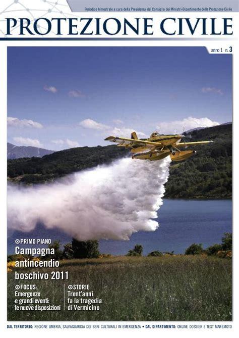 presidenza consiglio dei ministri dipartimento della protezione civile magazine protezione civile anno 1 n 3 maggio giugno