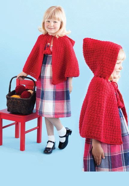 free pattern red riding hood cape red riding hood cape crochet today crafts pinterest