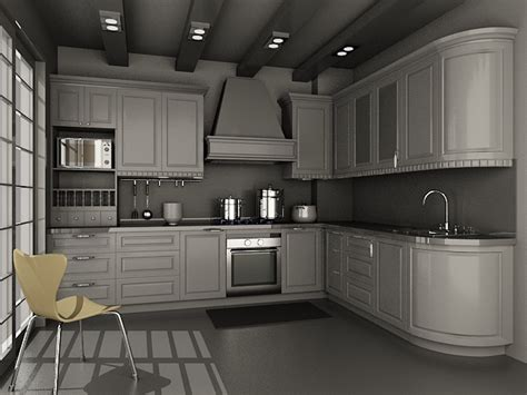 Kitchen Wallpaper Designs Ideas by Small Kitchen Units Design 3d Model 3dsmax Files Free