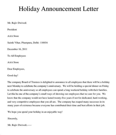5 holiday memo templates free word documents download