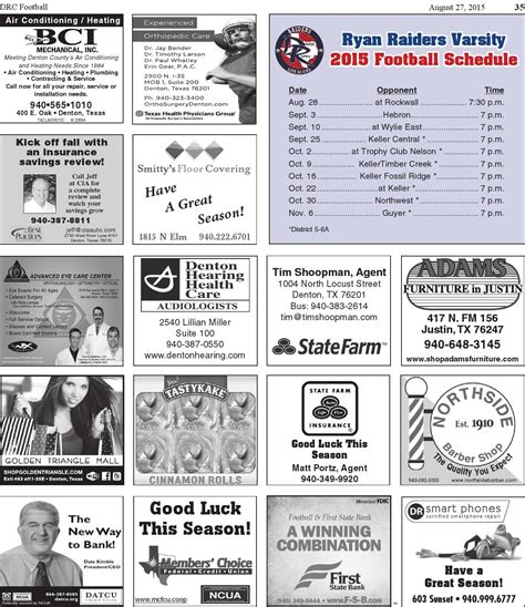 issuu denton record chronicle football 2015 by larry mcbride