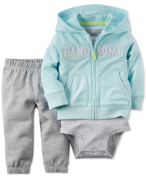 S 3 Babyboy Bodysuit And Pant Set Cs074 s baby boys 3 handsome hoodie bodysuit set baby carters