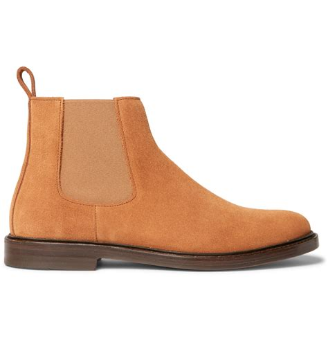 camel chelsea boots mens a p c suede chelsea boots in multicolor for camel