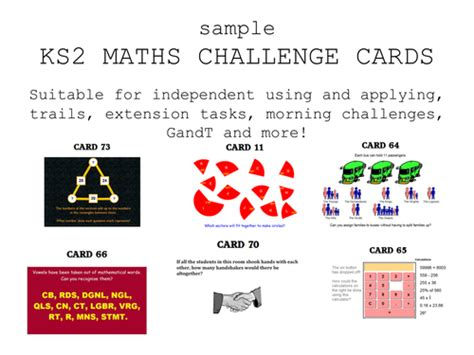 year 6 maths challenge cards ks2 maths challenge cards by erylands teaching