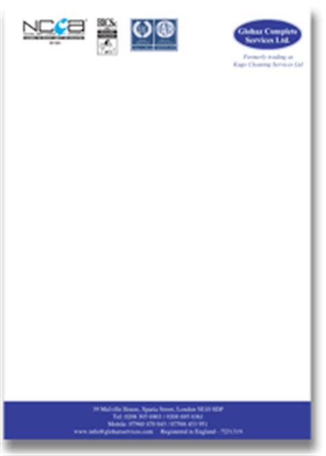 Business Letterhead Uk Business Letterheads