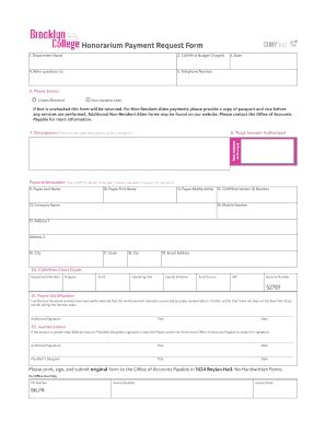 honorarium receipt template honorarium payment request form fill printable