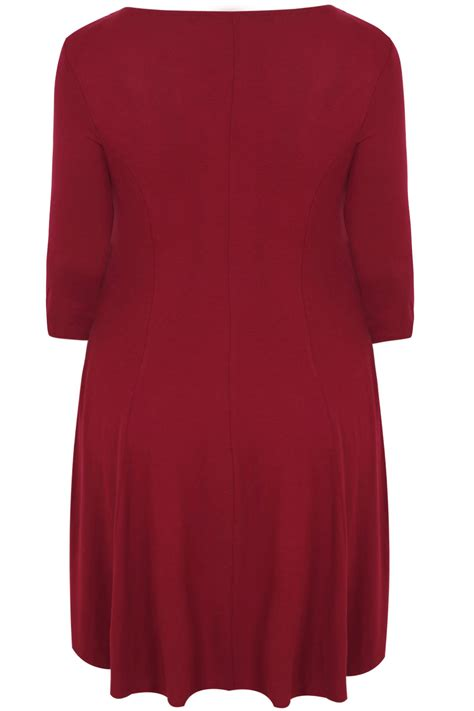 red swing dresses scarlett jo royal red swing dress with leaf fabric