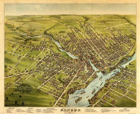 bangor maine map bangor maine usa 1875 papertowns