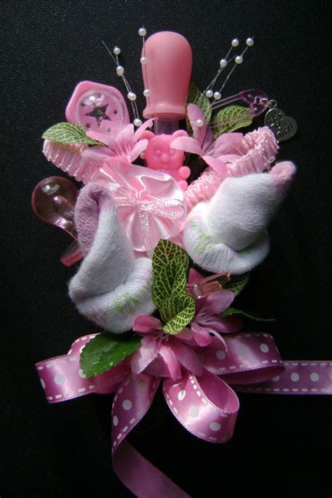 Corsage For Baby Shower by Baby Shower Corsage Baby Bootie Corsage New