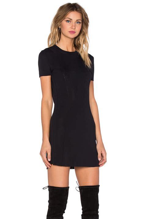 Clq Dress Mini Black lyst osklen sleeve mini dress in black