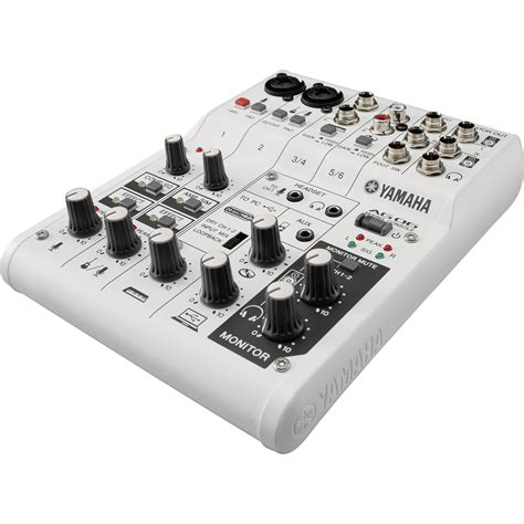 Mixer Audio Yamaha 24 Channel yamaha ag06 6 channel mixer usb audio interface ag06 b h