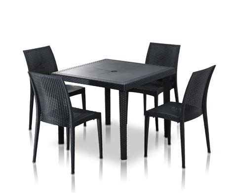 bistrot modern square dining table set