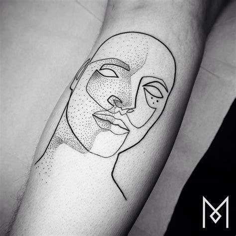 artistic tattoo minimalist single line tattoos by iranian german artist
