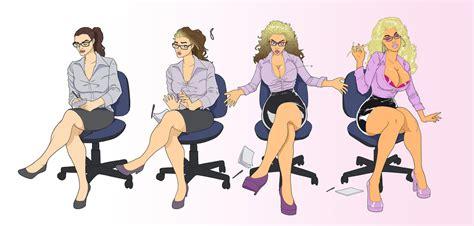 tf bimbo transformation comics secretary bimbo tf by banedearg on deviantart