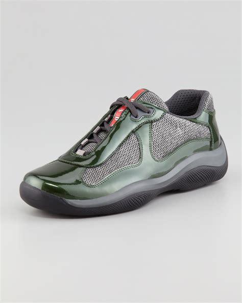 prada sneakers prada america s cup sneaker green gray