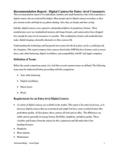 Justification Recommendation Report Template Best Photos Of Recommendation Report Exle