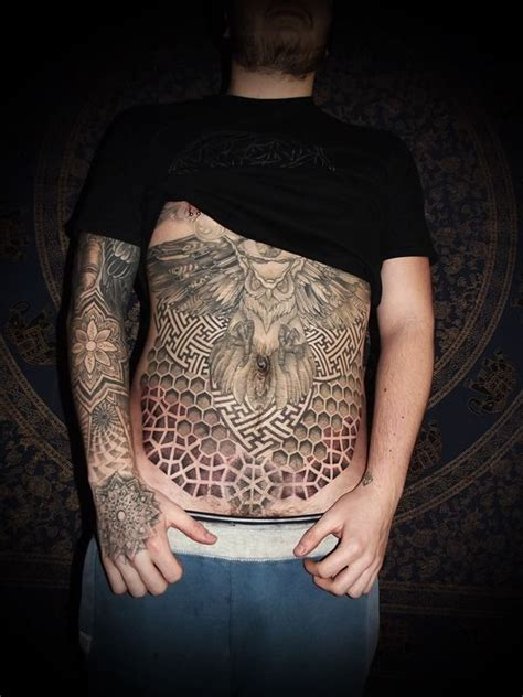 guy stomach tattoos cool belly tattoos for tattoos for