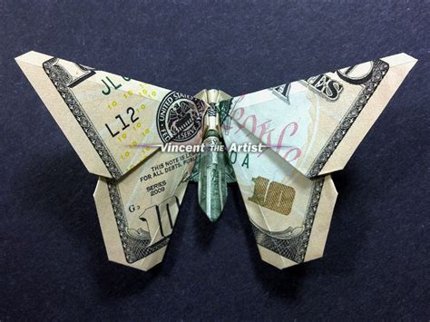 10 Dollar Bill Origami - 10 bill money origami butterfly dollar bill made