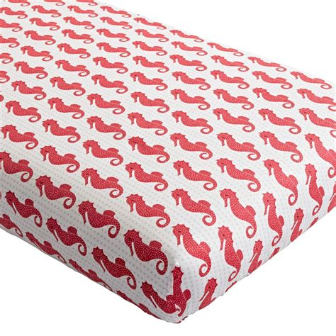 seahorse crib bedding high seas crib fitted sheet whale the land of nod