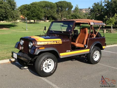 brown jeep cj7 renegade 1981 jeep cj7 renegade 23 092 original