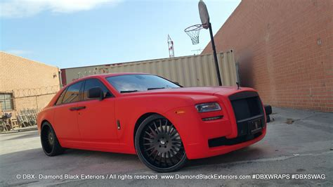 matte red rolls royce project rolls royce ghost wrapped in matte red by dbx