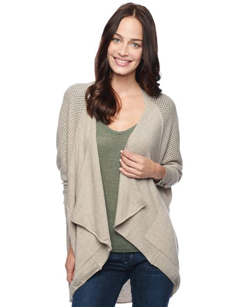 draped cardigan splendid cashmere drape cardigan in beige heather oat lyst