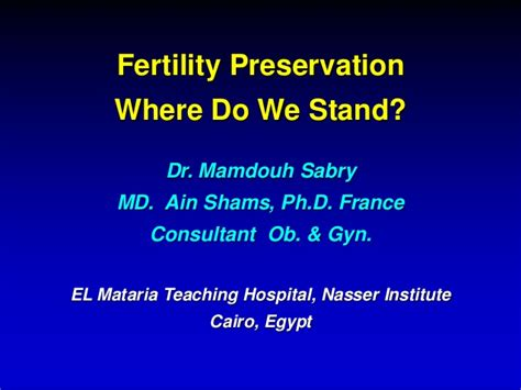 Learning And Performance Consultant At Sheryl Waxler Ph D Mba by Fertility Preservation For Cancer Patients