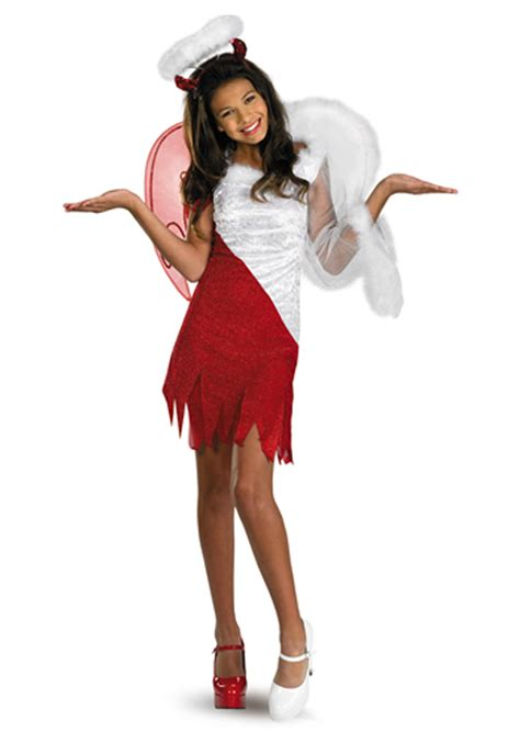 preteen angel costume tween heavenly devil costume