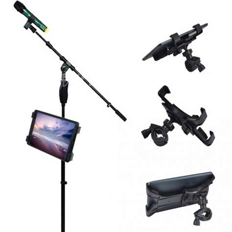 Microphone Smartphone Stand Holder 360 Degree 360 degree swivel adjustment mic microphone stand tablet holder mount holder for apple