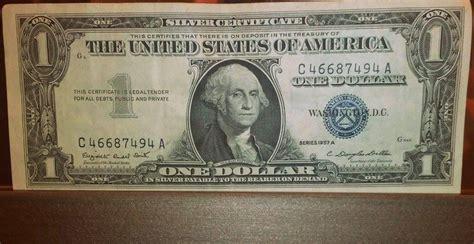 1957 Silver Certificate No Letter 1957 Silver Certificate Dollar Bill Antiques