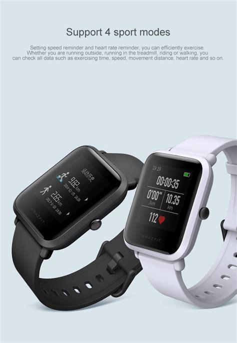 Amazfit Xiaomi Smartwatch Original Huami Version International montre connecte xiaomi huami amazfit bip lite noir version ebay