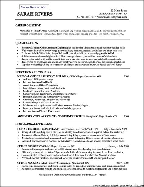 Objective For Assistant Resume office assistant resume objective free sles resume for