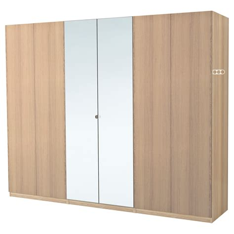 fitted wardrobe ikea pax wardrobe white stained oak effect nexus vikedal