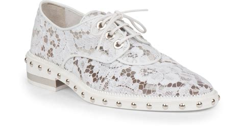 givenchy studded lace derby oxford shoes in white lyst