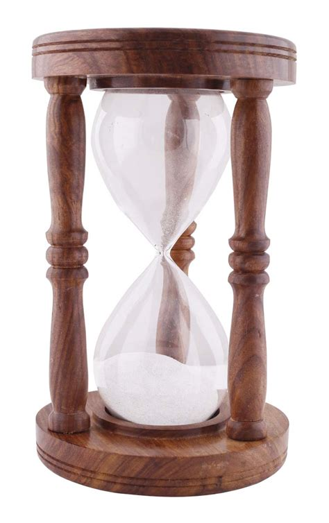 Handmade Hourglass - wholesale wood glass nautical sand timer hour glass in