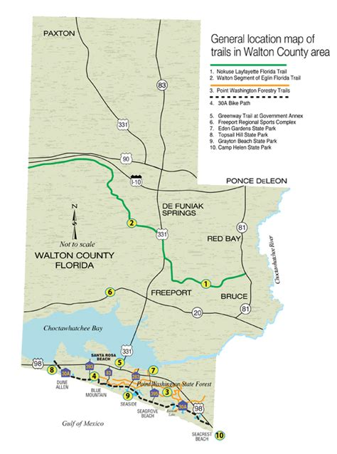 florida trail maps take a hike in walton county florida and surrounding area