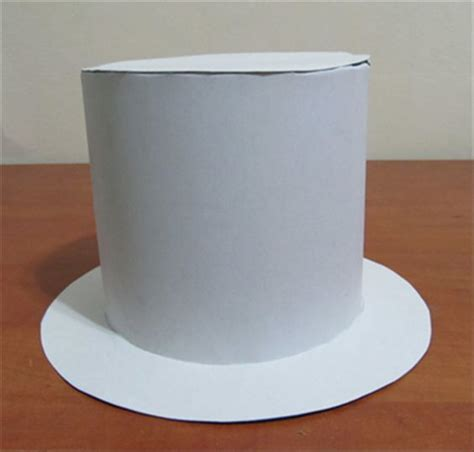 How To Make Paper Top Hats - your top hat is ready now is the part you can glue