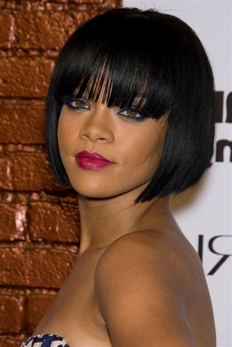 Black Hairstyles For 2017 Bobs With Bangs by 2017 Black Bob Hairstyles Blunt Cut Bob Haircuts With