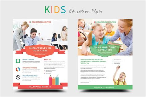 templates flyers online kids education school flyers flyer templates creative