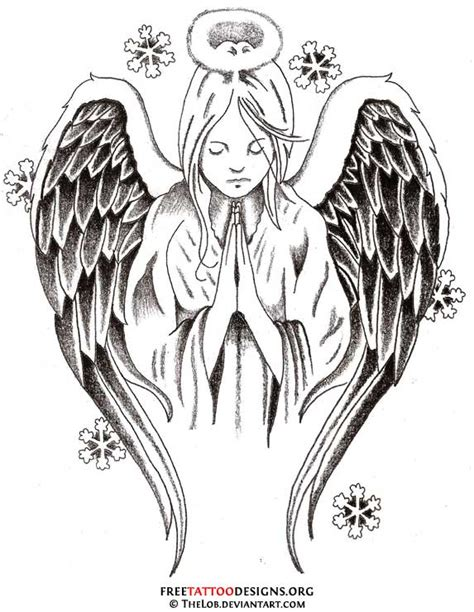 praying angel tattoo designs tattoos wings guardian and st michael
