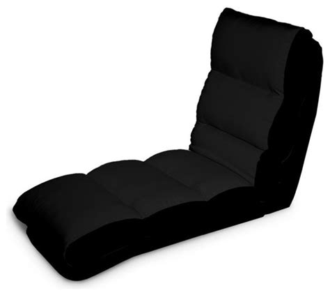 Convertible Chaise Lounge Indoor Turbo Convertible Chaise Lounger In Black Contemporary Indoor Chaise Lounge Chairs By