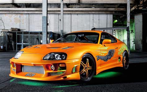 Fast And Furious Toyota Supra Orange Toyota Supra Green Neon The Fast And The Furious