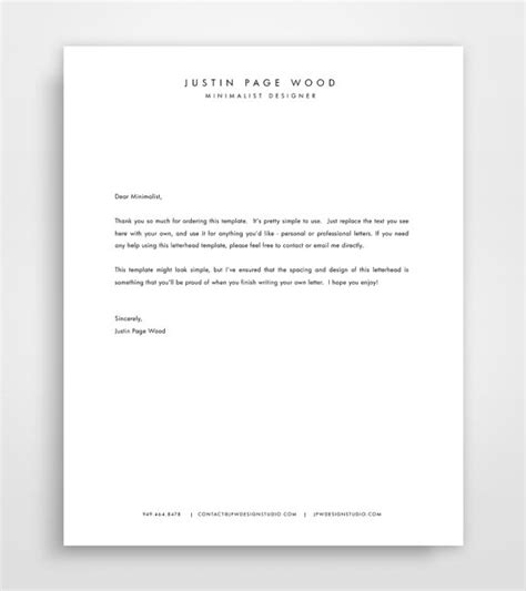 personal stationery template personal letterhead template white with blue brush