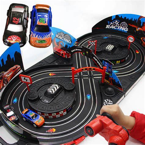 Mobil Balapan Railway Racing Car W16801 1 43 version electric rail car track set rc racing toys for children boys gift