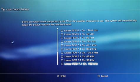 audio format bitstream or pcm how to make the audio settings on your playstation 3